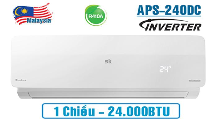 Điều hòa Sumikura 1 chều inverter 24000BTU