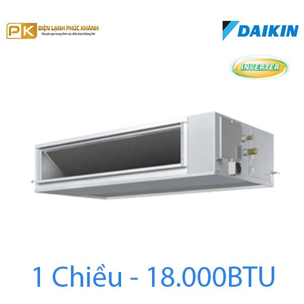 Điều hòa nối ống gió Inverter Daikin 1 chiều 18000Btu FBQ50EVE