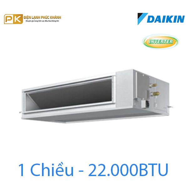 Điều hòa nối ống gió Inverter Daikin 1 chiều 22000Btu FBQ60EVE