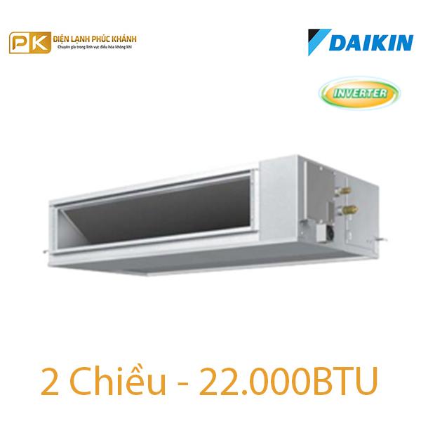 Điều hòa nối ống gió Inverter Daikin 2 chiều 22000Btu FBQ60EVE