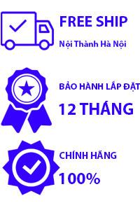 Miễn phí vận chuyển Nội thành Hà Nội. Bảo hành lắp đặt 12 tháng. Cam kết chính hãng
