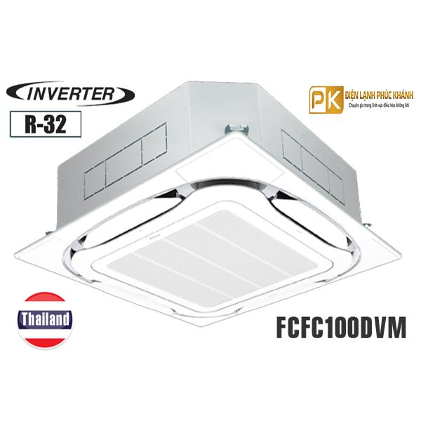 Điều hòa âm trần Daikin 34.000BTU inverter 1 chiều FCFC100DVM