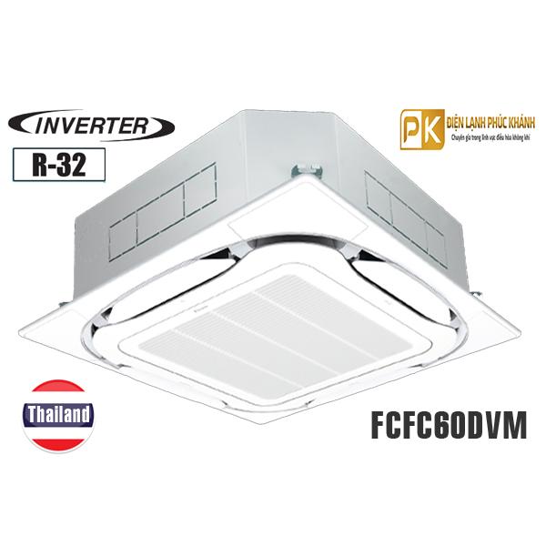 Điều hòa âm trần Daikin 21.000BTU inverter 1 chiều FCFC60DVM