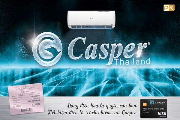 điều hòa casper inverter tiêu tốn điện chỉ từ 4000đ 1 đêm
