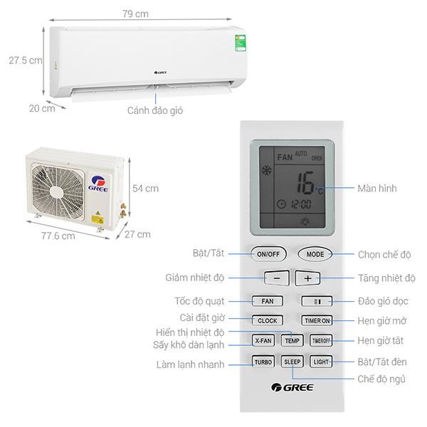 Thông số kỹ thuật điều hòa Gree GWC09KB-K6N0C4