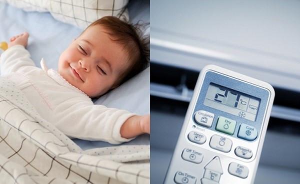 Nhiệt độ điều hòa lý tưởng sử dụng cho trẻ sơ sinh là từ 26 - 28 độ C