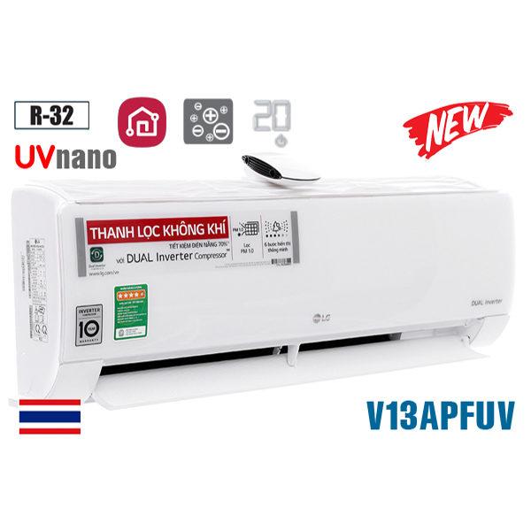 Điều hòa LG inverter 12000BTU 1 chiều UVnano V13APFUV