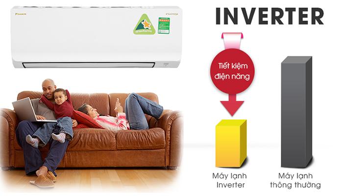 Điều hòa Daikin inverter tiết kiệm điện năng