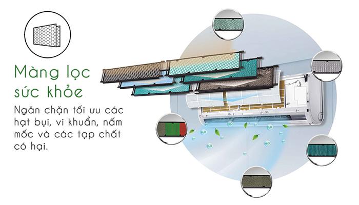 Điều hòa Gree GWC24KE-K6N0C4 kháng khuẩn hiệu quả