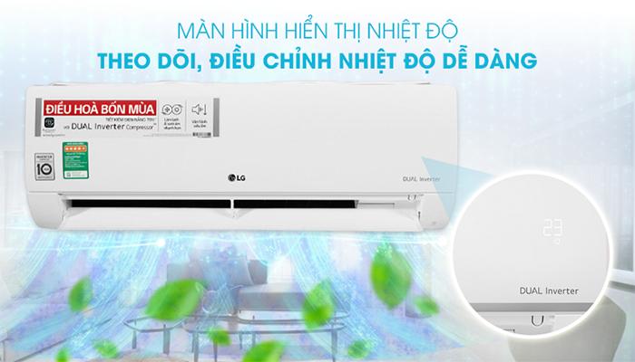 LG B10END có màn hình hiển thị nhiệt độ