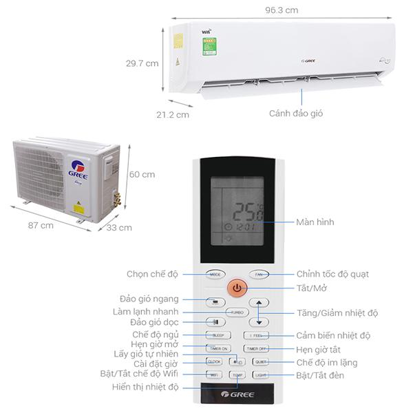 Thông số kỹ thuật máy điều hòa Gree GWC18BD-K6DNA1B