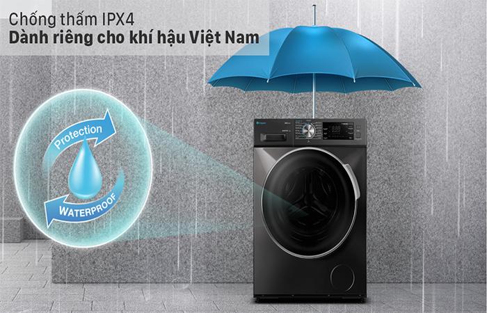 Công nghệ chống thấm IPX4 của máy giặt casper