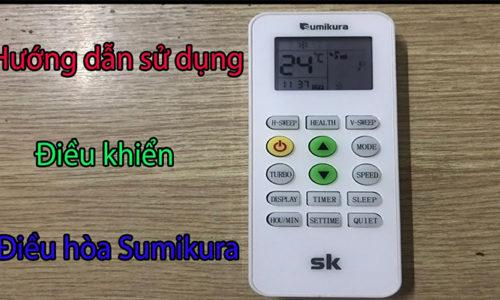 Hướng dẫn sử dụng điều khiển điều hòa Sumikura