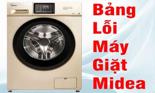 Tổng hợp bảng mã báo lỗi máy giặt Midea